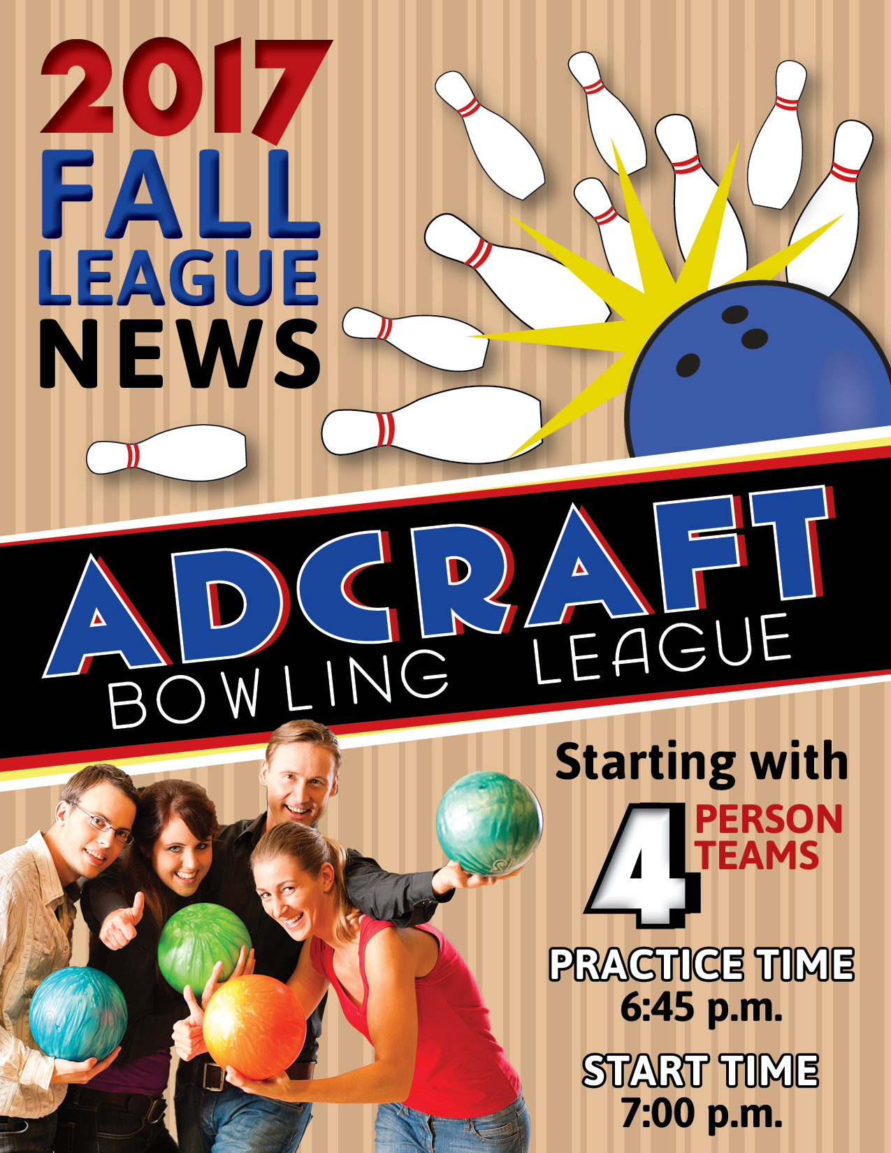 adcraft bowling flyer